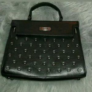 Circus by Sam Edleman black studded handbag