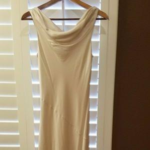 Long silky dress