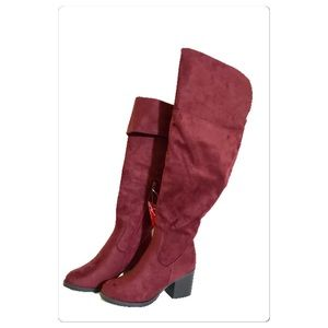 Shoes - New!! Over the knee Faux Suede wide calf Boots