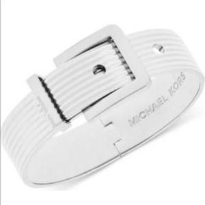 Michael Kors Ribbed Buckle Bracelet