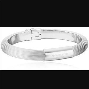 Michael Kors Ribbed Padlock Bracelet