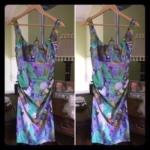 Suzi Chen for Maggy Boutique floral dress - sz 6