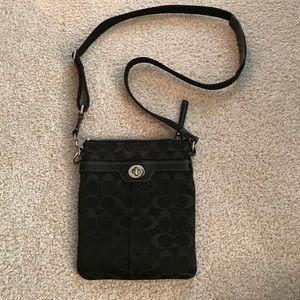 Black Coach cross body bag