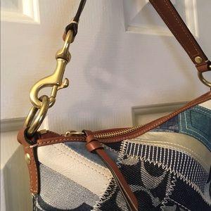 Coach Denim patchwork purse