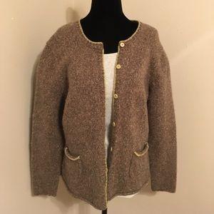 Pretty Talbots tweed look sweater
