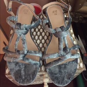 H&M suede knotted sandals 39