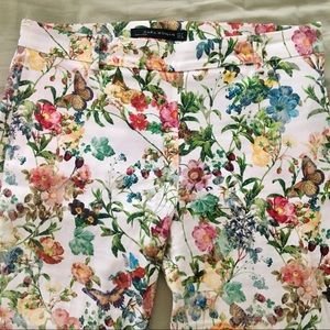 Zara Floral Print Ankle-length Pants