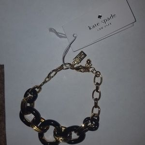 Kate Spade gold and black bracelet