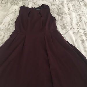 Fit and flare burgundy dress! Worn once