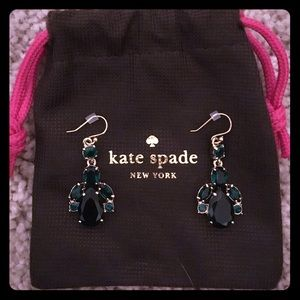 KATE SPADE ♠️ DROP DEAD GORGEOUS EMERALD EARRINGS