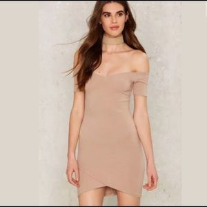 Nasty Gal Nude Mini Dress