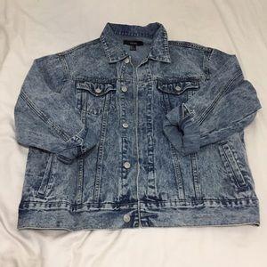 Forever21 Acid Wash Denim Jacket