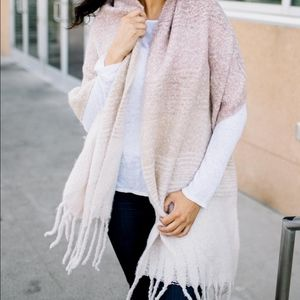 Mer-Sea Blush Cozy Comfort Wrap/Scarf