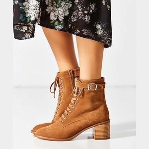 Karen Suede Lace-up Ankle Boot