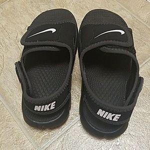 f7fc5a8be6c2 Nike Shoes - Toddler boys Black Nike Slides SZ10 Strap on Slide
