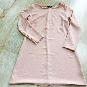 American Apparel Pink Long Sleeve Shift Dress