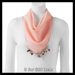 madden NYC Pom-Pom Neckerchief in Blush
