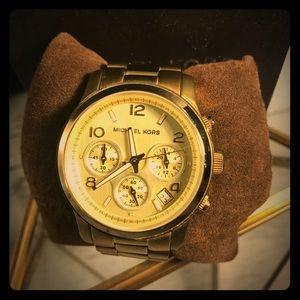 MICHAEL KORS signature gold watch BRAND NEW!