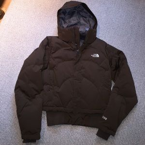 North face winter jacket with hood