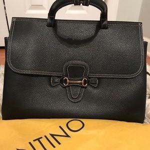 BRAND NEW. Authentic leather black Valentino tote