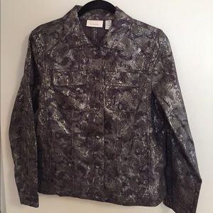 Chicos Snake Skin Styled Jacket.