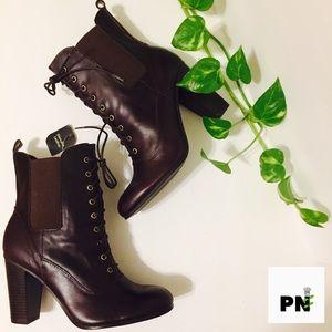Ginuine leather boots deep chocolate New