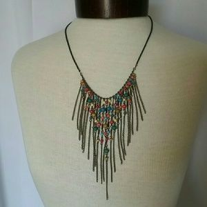 Statement Multilayered Beaded Necklace