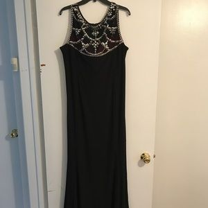 Dresses & Skirts - Black evening dress with rhinestone detailing