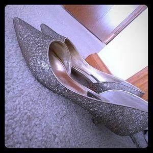 Gold Sparkley Nina heels