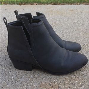 Express gray ankle bootie. Size 7.