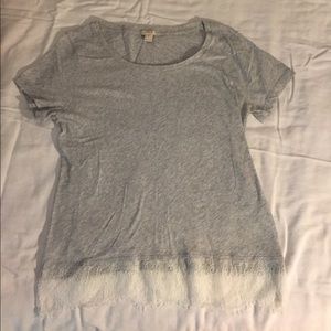 J Crew tee with lace detail