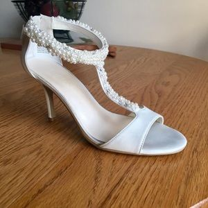 David's Bridal T-Strap Heels