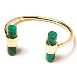 Banana Republic green malachite bracelet