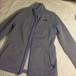North Face purple full zip fleece