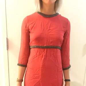 Coral party dress