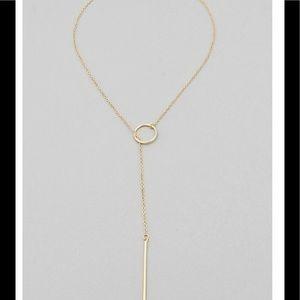 Bar Pendant Necklace Gold