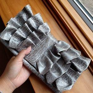 Giannini faux vegan leather snake skin clutch