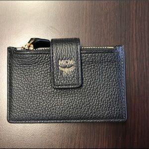 MCM Milla Accordion Leather Card Case - Black
