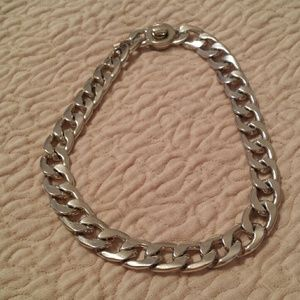 KENNETH COLE gold tone chain link necklace