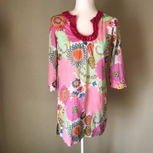 Boden Pool Party Floral Tunic sz 4