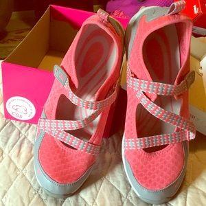 Ryka, athletic shoe.