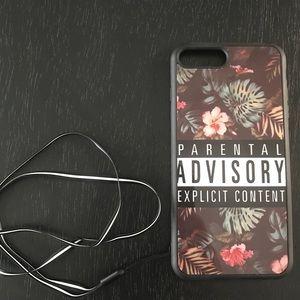 """🔥 iPhone 7 Plus Case """"Parental Advisory"""""""