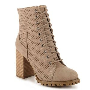 Report Adrian Heeled Booties Wheat Color
