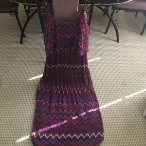 Dresses & Skirts - Purple Zigzag Sun Dress