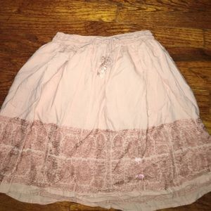 J.Crew Pink Embroidered Skirt