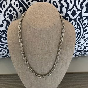 Jewelry - Silver plated rope chain necklace.
