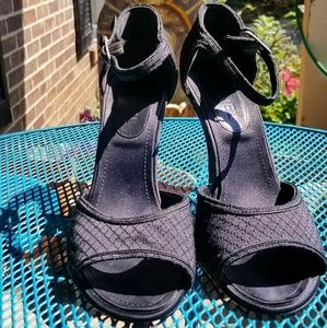 Vintage? Chanel open toed ankle strap famous quilt