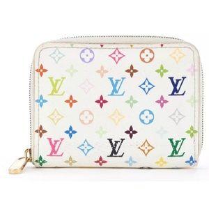 Authentic Louis Vuitton zippy murakami  wallet