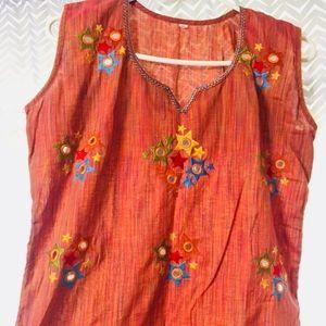 indian cotton tunic-like new!