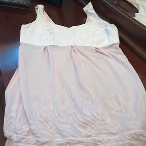 Light Pink and Grey Lululemon Active Wear Top